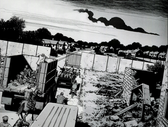Alexandria safe zone in Virginia, as seen in the comics.