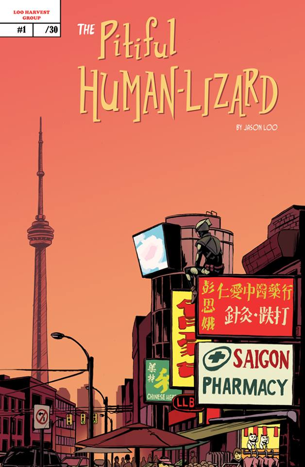 The Chinatown variant cover was limited to 30 copies through the Kickstarter campaign and features our hero overlooking the town with the iconic CN Tower in the background.